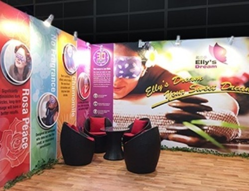 "3x5M Standard Booth Design for ""EllysDream"" Eye Mask"